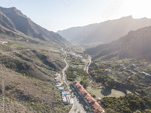 Deurstickers Wit Aerial view beautiful landscape in Gran Canaria