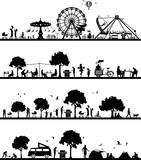 Silhouetten Freizeit und Hobby - 195061766