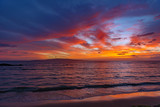 sunset at the kihei coast maui hawaii