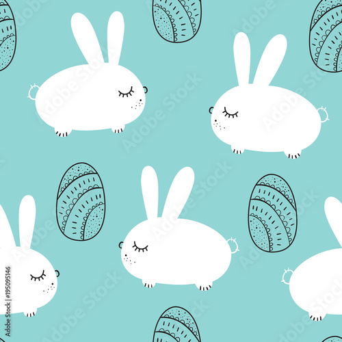 Materiał do szycia Happy easter. Vector seamless pattern
