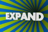 Expand Word Bigger Increase Expansion 3d Illustration - 195097566