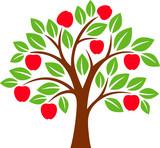 Colorful apple tree