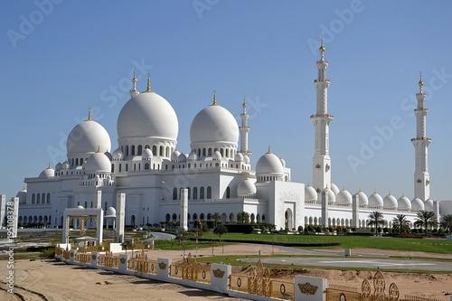 Fotobehang Abu Dhabi Sheikh Zayed Grand Mosque Center - Abu Dhabi - Emirates Arabs Units