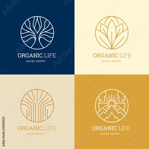 Organic life Logo template design for beauty spa, green ,yoga