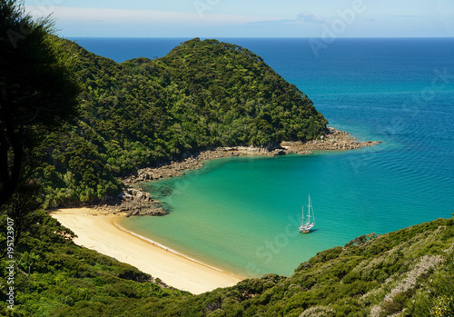 Mutton Cove seen from uphill, Abel Tasman National Park, New Zealand