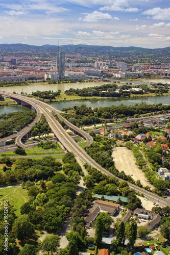 Vienna cityscape, vertical view