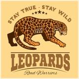 Fototapeta Vector Jaguar leopard Logo emblem symbol