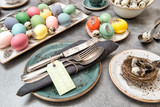 Easter decoration colorful eggs Holidays food - 195128726