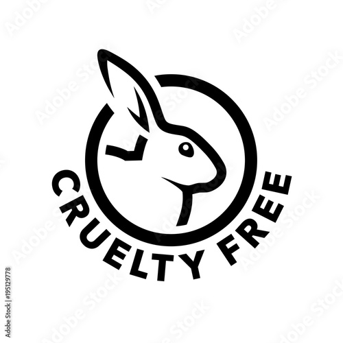 Cruelty Free Concept Logo Design With Rabbit Symbol Not Tested On