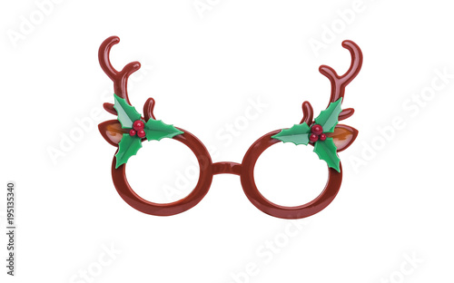 Aluminium Hipster Hert Glasses with the horns of a deer.