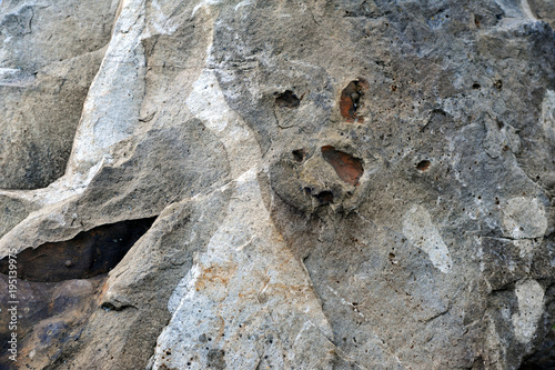 Foto op Canvas Stenen Structure of surface of the stone, used as background. Stone tex