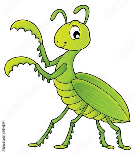 Foto op Canvas Voor kinderen Praying mantis theme image 1