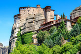 The Holy Monastery of Roussanou at the complex of Meteora monasteries in Greece - 195150306