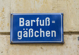 street sign barefoot road in Leipzig - 195151522