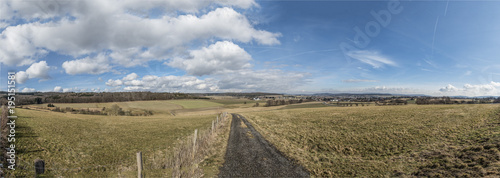 Foto op Canvas Panoramafoto s panoramic view of rural landscape in the Taunus area