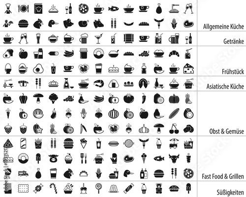 Großes Essen & Getränke Iconset DE © ii-graphics