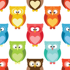 Cartoon owls pattern