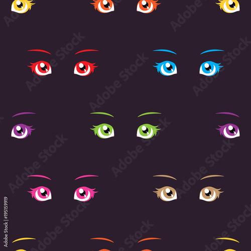 Anime eyes pattern - 195159919
