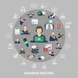 Business Symbols Round Composition