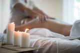 Candles and spa relax healthy