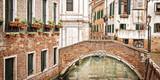 A bridge over a small canal, Venice Italy