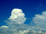 blur white cloud clear blue sky in a day