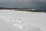 Baltic sea at winter in Sopot, Pomorskie, Poland