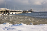 Pier on the Baltic sea at winter in Sopot, Pomorskie, Poland
