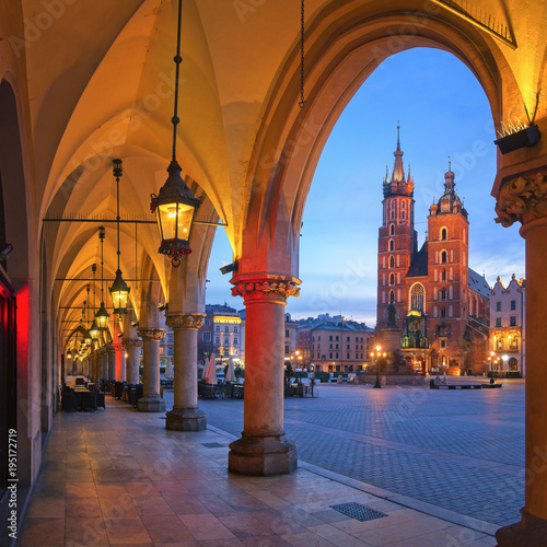 Foto op Canvas Krakau Old City of Krakow in the morning