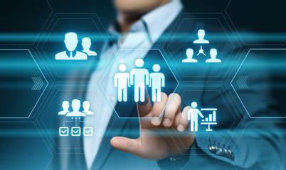 Human Resources HR management Recruitment Employment Headhunting Concept