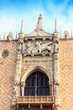 Architectural details of the Doge`s Palace