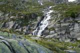 Beautiful waterfall high in the Austrian Alps - 195186324