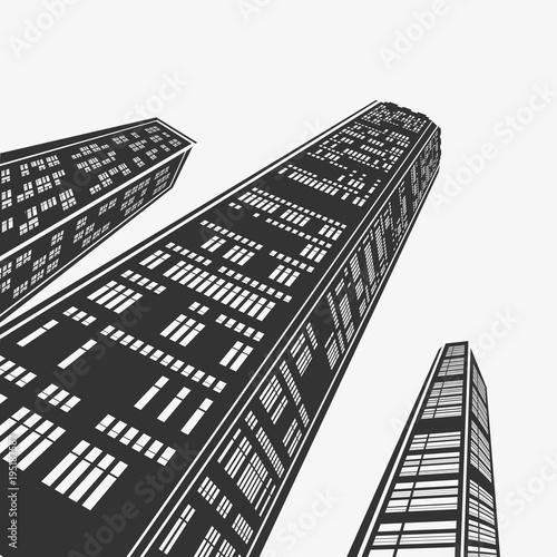 Fototapeta Top Architecture Skyscraper in Perspective