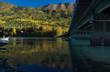Reflections in bridges shadow