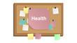Pinnwand - Zettel - Gesundheit