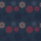 Snowflake different seamless pattern. Suitable for screen, print and other media. - 195201589