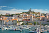 View of the old port of Marseille, France - 195204134