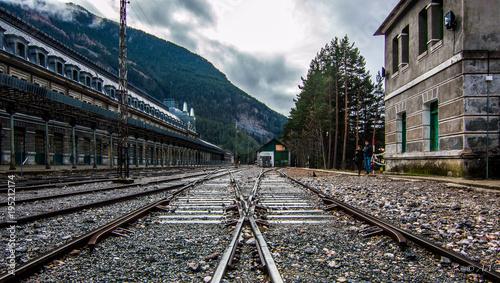 Fotobehang Spoorlijn Dos caminos