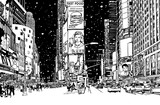Times square under snow - 195221125