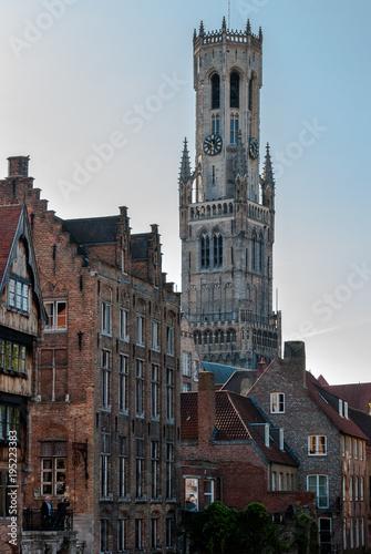 Foto op Canvas Brugge Beffroi de Bruges