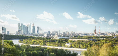 Tuinposter Moskou Panorama of Moscow city, Russia