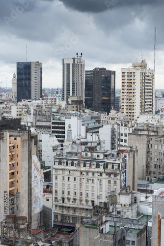 Fotobehang Buenos Aires aerial view of flats and offices in the centre of Buenos Aires