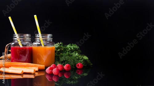 Foto op Canvas Sap Juice from fresh fruits and vegetables
