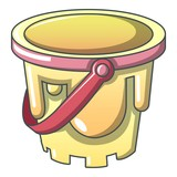 Child bucket icon, cartoon style