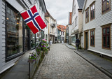 Flag of Norway in the streets of Bergen