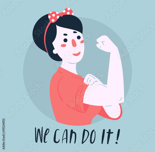 We Can Do It Poster Strong Girl Classical American Symbol Of