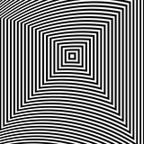 Optical illusion art abstract background. Black and white monochrome geometrical hypnotic square pattern. - 195256700