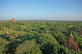 The red brick stupas and pagodas of the Bagan plains stretch out to the horizon