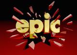 Epic Word Breaking Through Glass Big Huge Deal 3d Illustration