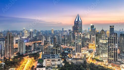 Aluminium Shanghai Skyline and cityscape of modern city
